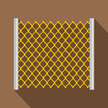 perforated: Perforated gate icon, flat style