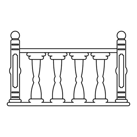 Balustrade icon, outline style