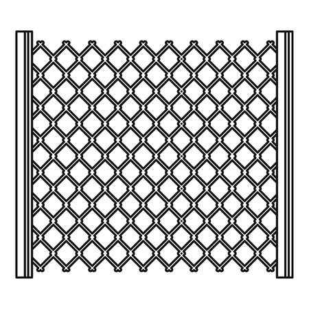 Perforated gate icon, outline style