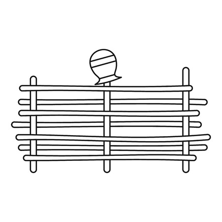 palisade: Palisade icon, outline style