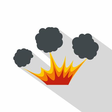 Explosion icon, flat style Illustration