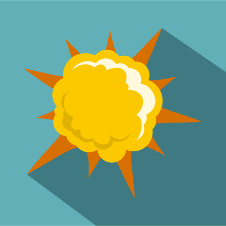icône puissante explosion, le style plat Vecteurs