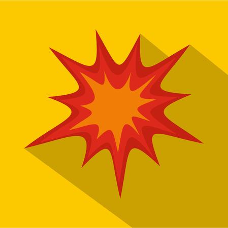 Heavy explosion icon, flat style Illustration