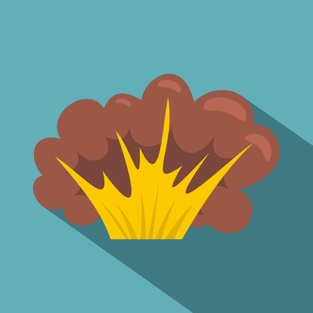 high powered: High powered explosion icon, flat style Illustration