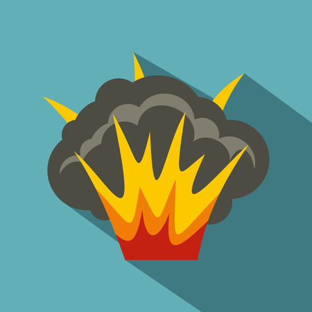 projectile: Projectile explosion icon, flat style