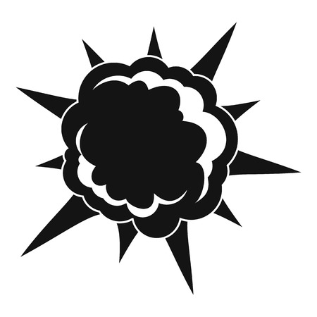 Powerful explosion icon, simple style