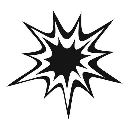 Heavy explosion icon, simple style Illustration
