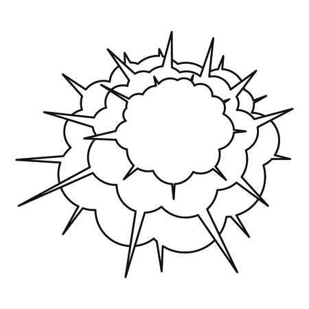 atomic bomb: Spica icon, outline style