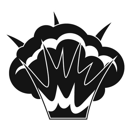 nuclear bomb: Projectile explosion icon, simple style