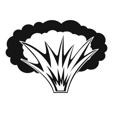 chernobyl: Atomical explosion icon, simple style