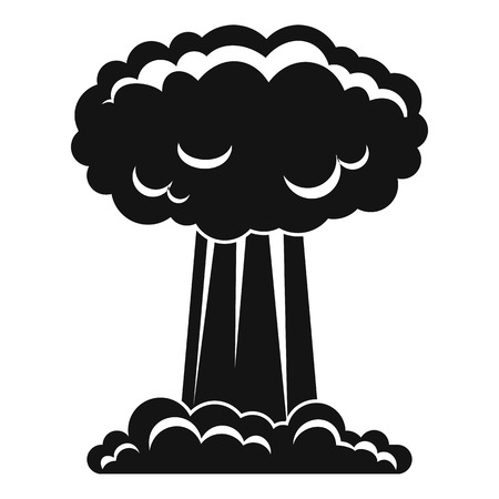 chernobyl: Mushroom cloud icon, simple style