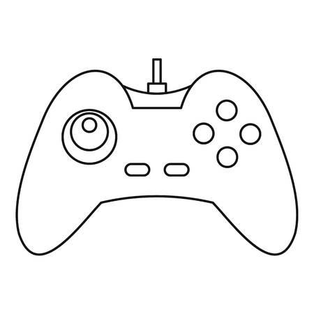 One joystick icon, outline style Illustration
