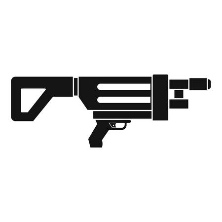 Game gun icon, simple style