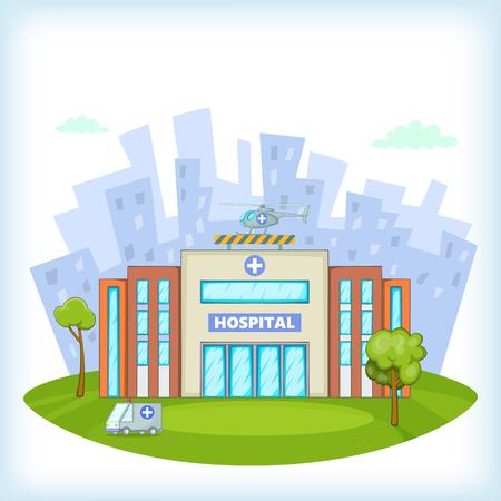 concept de l'hôpital, le style de bande dessinée Vecteurs