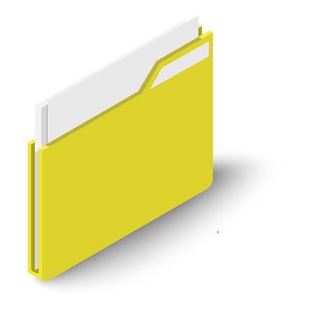Folder icon, isometric style