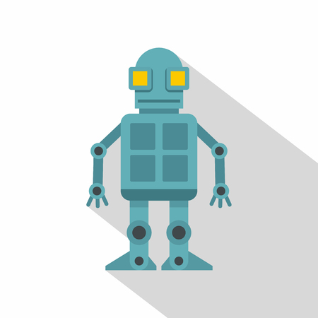 Android robot icon, flat style