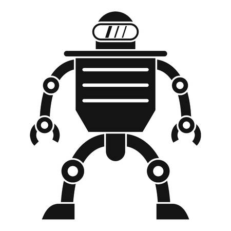 Humanoid robot icon, simple style