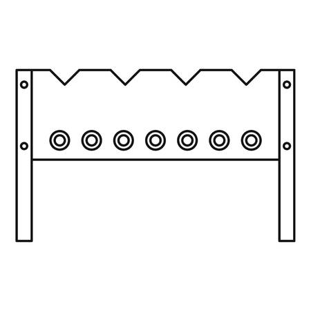 BBQ brazier icon, outline style Illustration