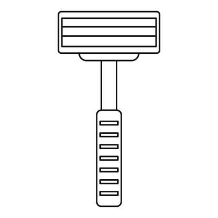 shaver: Razor equipment for shaver icon, outline style Illustration
