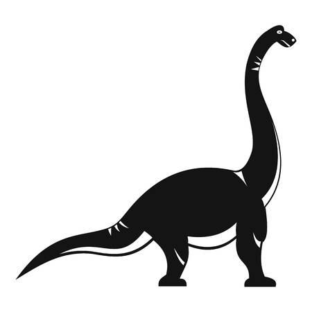 Brachiosaurus dinosaur icon, simple style Illustration