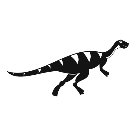 cretaceous: Gallimimus dinosaur icon, simple style
