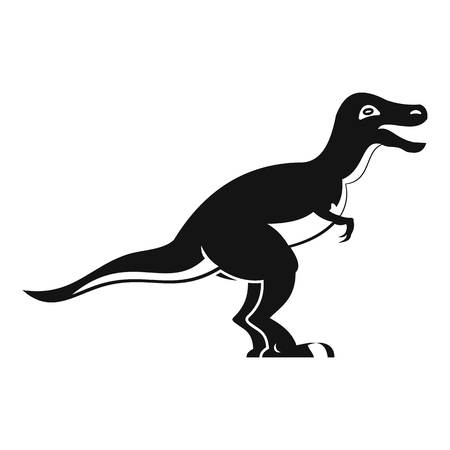 raptor: Theropod dinosaur icon, simple style