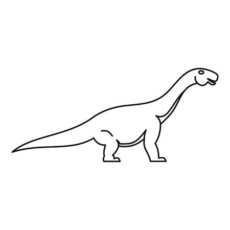 Titanosaurus icon, outline style