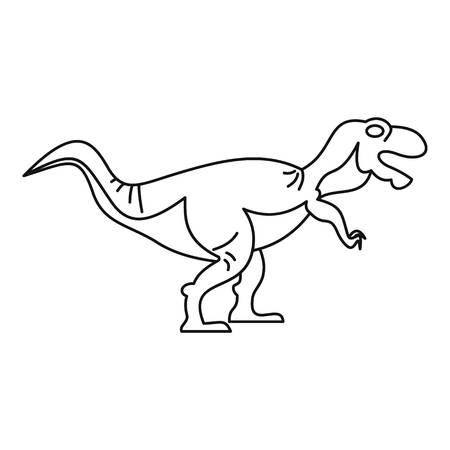 tyrannosaur: Tyrannosaur icon, outline style