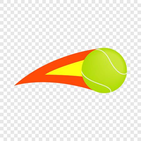 Flaming tennis ball isometric icon 3d on a transparent background vector illustration