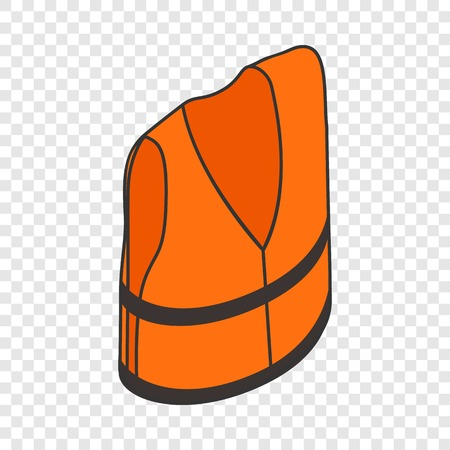 Life jacket isometric icon 3d on a transparent background vector illustration