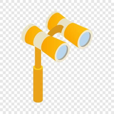Elegant theater binocular isometric icon 3d on a transparent background vector illustration Illustration