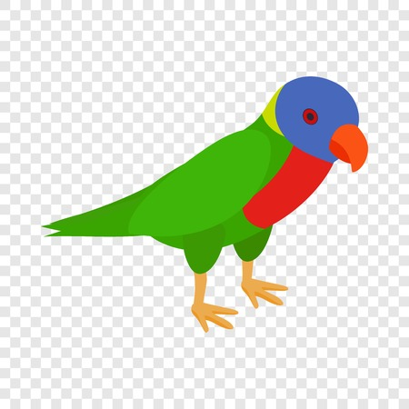 Parrot isometric icon 3d on a transparent background vector illustration