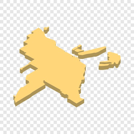 Map Of Singapore Isometric Icon D On A Transparent Background - Transparent map of us