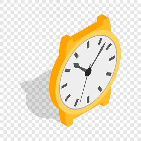 cronógrafo: Swiss watch isometric icon 3d on a transparent background vector illustration Vectores