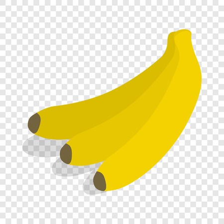 Bunch of bananas isometric icon 3d on a transparent background vector illustration Illustration