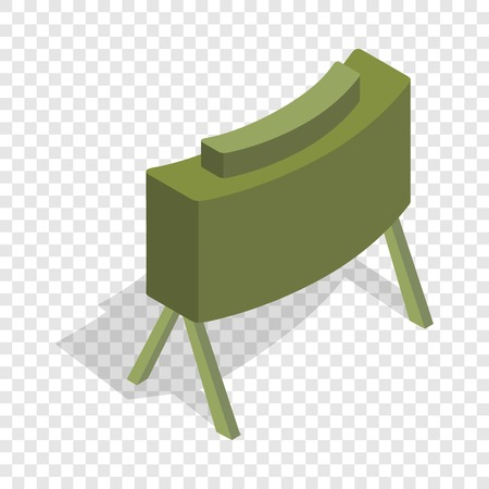 Military mine isometric icon 3d on a transparent background vector illustration