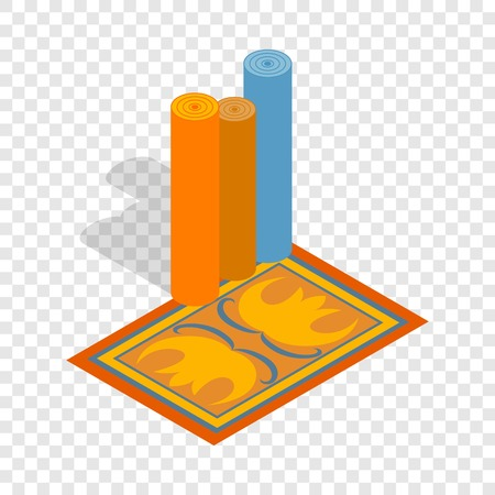Turkish carpets isometric icon 3d on a transparent background vector illustration