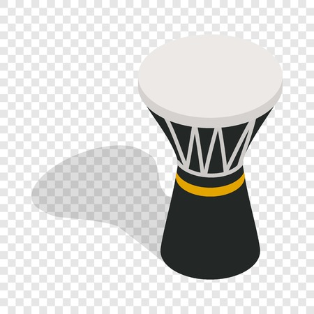 darbuka: Darbuka, percussive musical instrument isometric icon 3d on a transparent background vector illustration