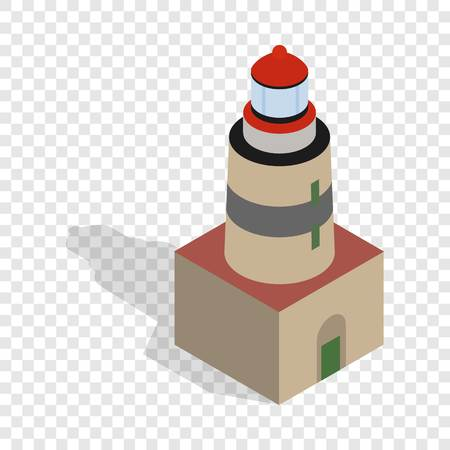 Falsterbo lighthouse, Sweden isometric icon 3d on a transparent background vector illustration Illustration