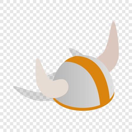 Swedish viking helmet isometric icon 3d on a transparent background vector illustration Illustration