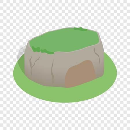 srilanka: Sigiriya rock, Sri Lanka isometric icon 3d on a transparent background vector illustration