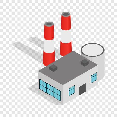 Power plant isometric icon 3d on a transparent background vector illustration