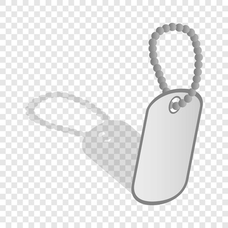 dogtag: Identification army badge isometric icon 3d on a transparent background vector illustration