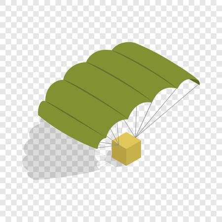 para: Military parachute isometric icon 3d on a transparent background vector illustration