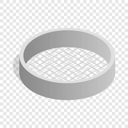 sifting: Sieve isometric icon 3d on a transparent background vector illustration