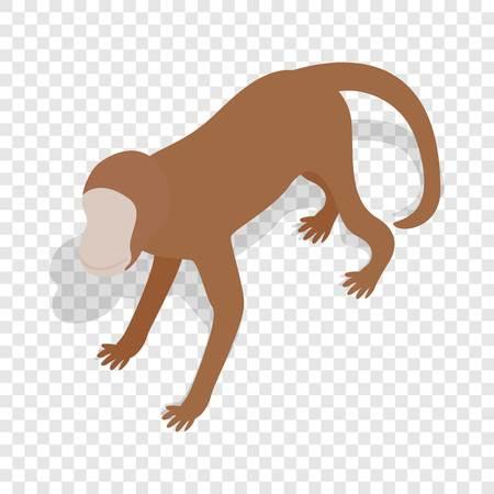 ceylon: Monkey isometric icon
