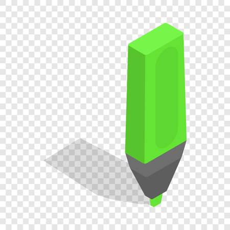 Marker isometric icon 3d on a transparent background vector illustration