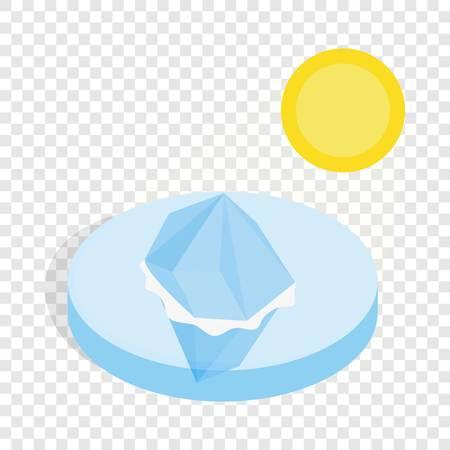 Melting iceberg isometric icon Illustration