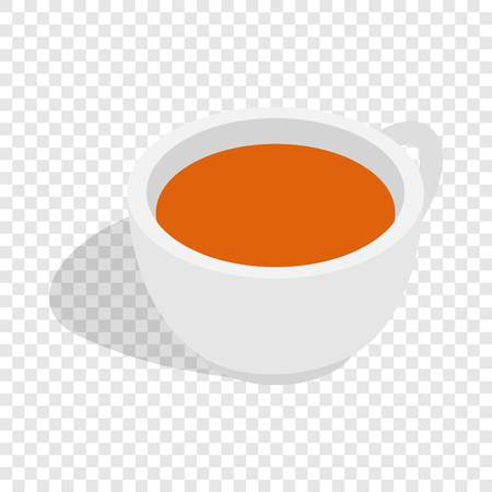 ENT: White cup of tea isometric icon