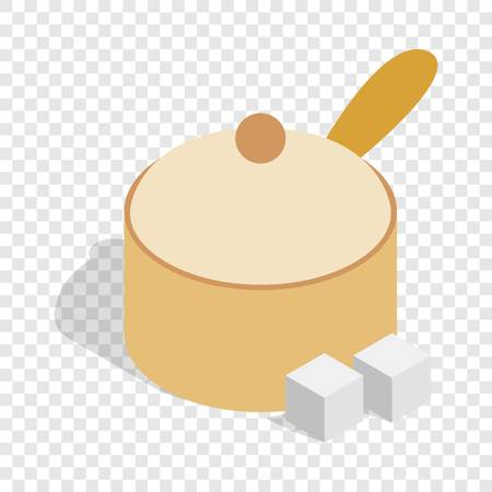 Sugar bowl isometric icon